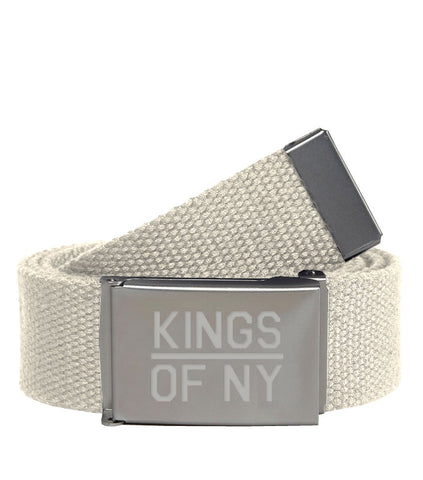 Kings Of NY Natural Canvas Military Web Mens Belt