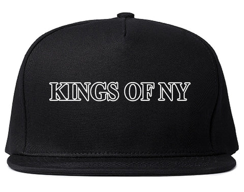 Kings Of NY Outline Classic Logo Mens Snapback Hat Black