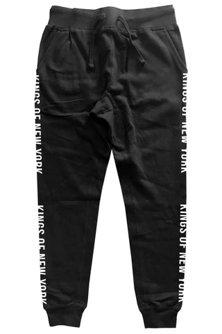 Kings Of New York Logo Striped Mens Sweatpants