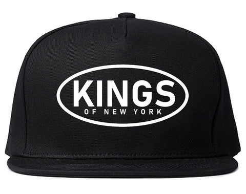 Kings Of New York Work Logo Mens Snapback Hat Black
