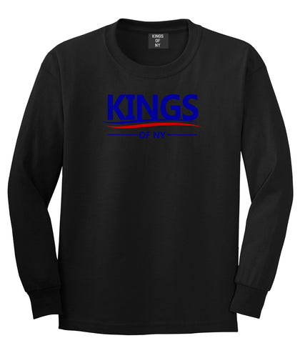 Kings Of NY Campaign Logo Long Sleeve T-Shirt in Black