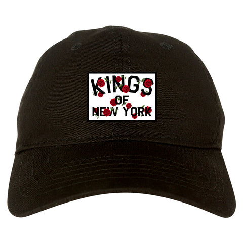Kings Of New York Rose Garland Black Dad Hat