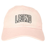 Legend Outline Mens Dad Hat Baseball Cap Pink