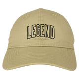 Legend Outline Mens Dad Hat Baseball Cap Tan