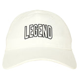 Legend Outline Mens Dad Hat Baseball Cap White