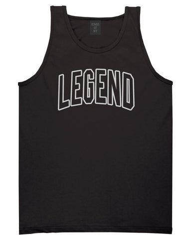 Legend Outline Mens Tank Top Shirt Black by Kings Of NY