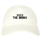 Made In The Bronx Mens Dad Hat Baseball Cap White