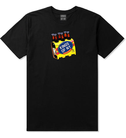 Malta 6 Pack Logo Mens T-Shirt Black by Kings Of NY