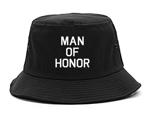 8d781b94ea1 Man Of Honor Funny Bachelor Party Wedding Mens Bucket Hat by Kings ...