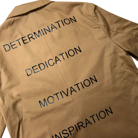 Determination Dedication Motivation Inspiration Men's Long Lightweight Cotton Twill Jacket