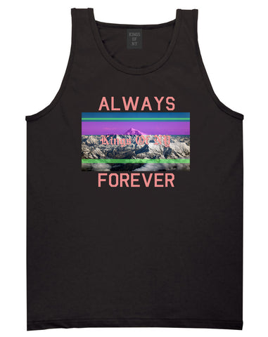 Mountains Always And Forever Mens Tank Top Shirt Black by Kings Of NY