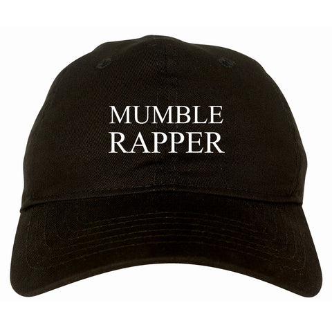 Mumble Rapper Dad Hat in Black