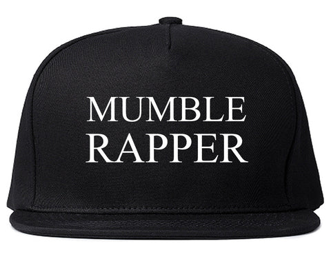Mumble Rapper Snapback Hat Cap in Black
