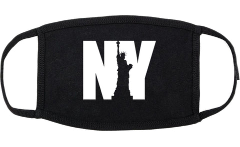 NY Statue Of Liberty Cotton Face Mask Black
