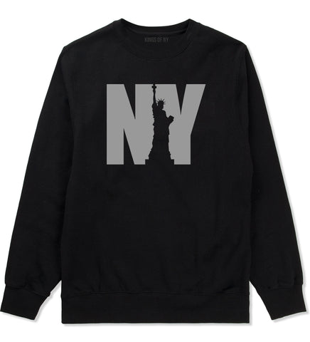 NY Statue Of Liberty Mens Crewneck Sweatshirt Black