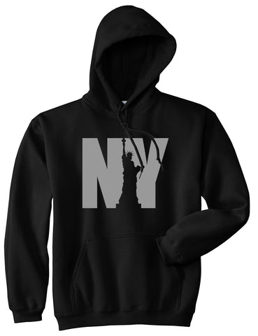 NY Statue Of Liberty Mens Pullover Hoodie Black