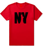 NY Statue Of Liberty Mens T Shirt Red