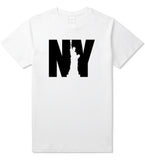NY Statue Of Liberty Mens T Shirt White