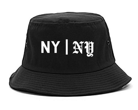 NY vs NY Mens Snapback Hat Black