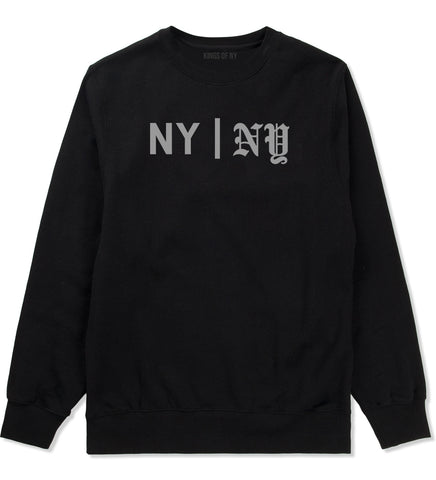 NY vs NY Mens Crewneck Sweatshirt Black