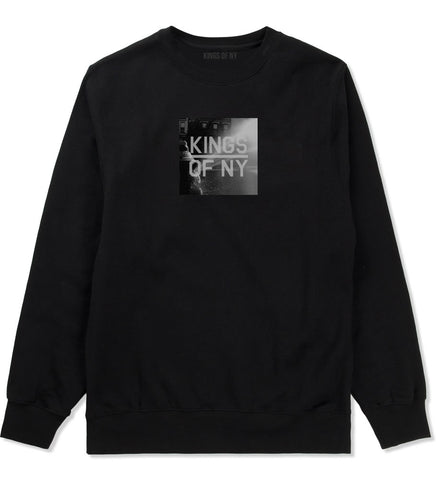 NYC Fire Hydrant Pump Summer Mens Crewneck Sweatshirt Black