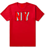 NY Block Letters T-Shirt in Red