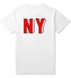 NY Block Letters T-Shirt in White