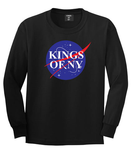 Nasa Kings Of NY Logo Long Sleeve T-Shirt in Black