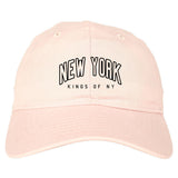 New York Blue And Orange Mens Dad Hat Baseball Cap Pink
