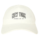 New York Blue And Orange Mens Dad Hat Baseball Cap White