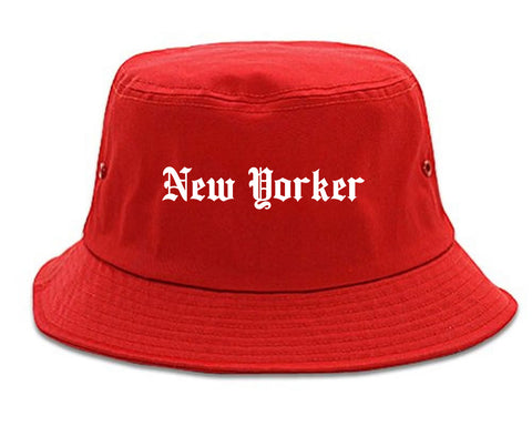 New Yorker Old English Mens Bucket Hat