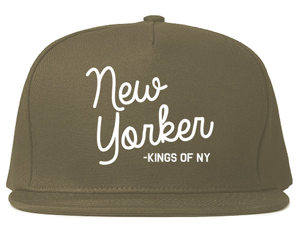 cf5b7a3f1 New Yorker Script Mens Snapback Hat by KINGS OF NY