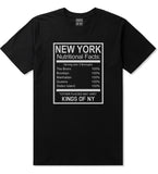 New York Nutritional Facts T-Shirt in Black