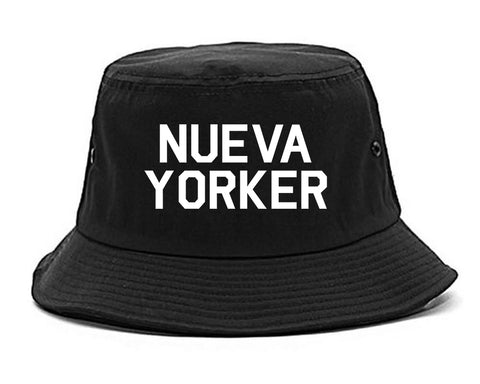 Nueva Yorker New York Spanish Black Bucket Hat