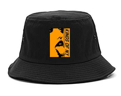 Open Minded Mens Bucket Hat Black