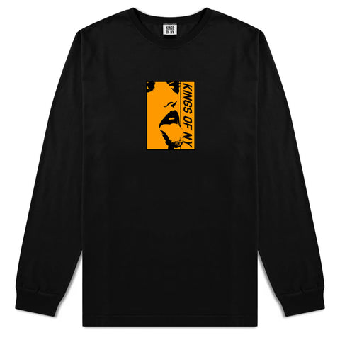 Open Minded Mens Long Sleeve T-Shirt Black