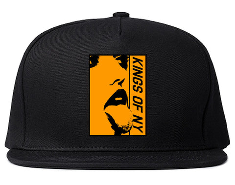 Open Minded Mens Snapback Hat Black