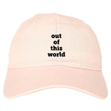 Out Of This World Space Galaxy Mens Dad Hat Baseball Cap Pink