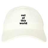 Out Of This World Space Galaxy Mens Dad Hat Baseball Cap White