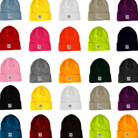3051195e57a Cuffed Beanie Hats by KINGS OF NY. Mini Logo Beanie Hat (19 Colors)