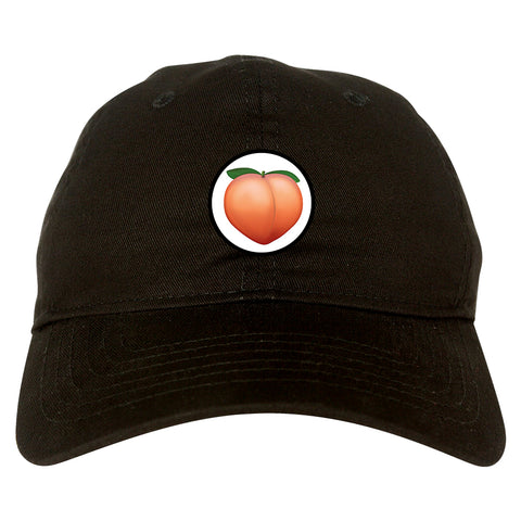 26efadb7 Home › Peach Emoji Chest Mens Dad Hat Baseball Cap. Peach_Emoji_Chest Mens  Black Snapback Hat by Kings Of NY
