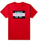 Pink And Blue Flag Logo Mens T Shirt Red
