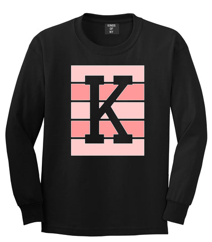 Pink K Blocks Long Sleeve T-Shirt in Black