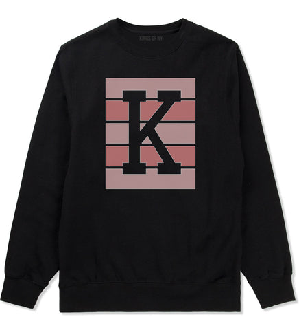 Pink K Blocks Crewneck Sweatshirt in Black