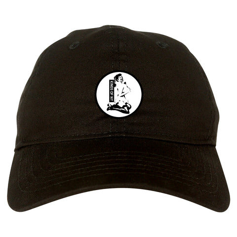 Pinup Girl Rose Black Dad Hat