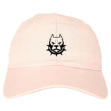 Pitbull Dad Mens Dad Hat Baseball Cap Pink