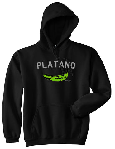 Platano Dominican Artwork DR Mens Pullover Hoodie Black