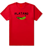 Platano Dominican Artwork DR Mens T Shirt Red