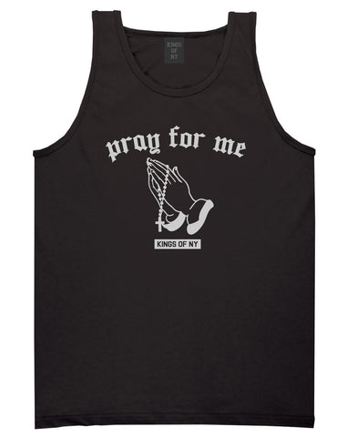 Pray For Me Mens Tank Top Shirt Black by Kings Of NY