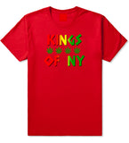 Puff Puff Pass Mens T-Shirt Red by Kings Of NY